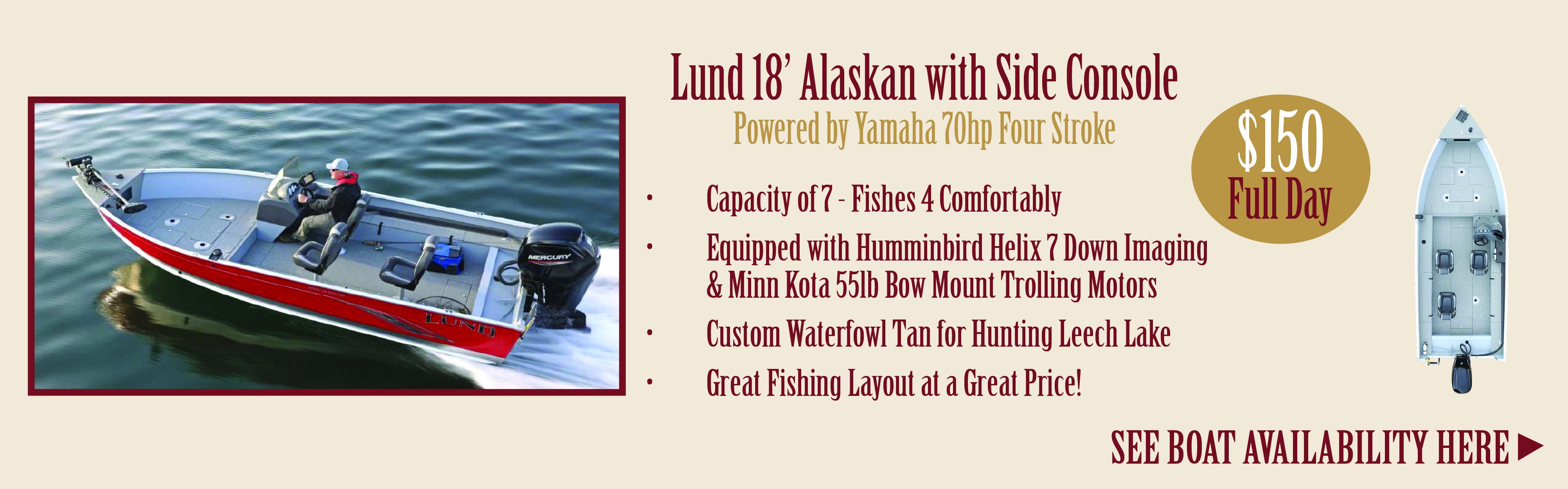 Leech Lake Fishing Boat Rentals